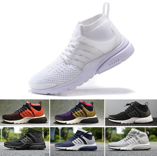 unique design best new list Acheter NIKE Air Presto Flyknit Ultra Wholesale 2018 Prestos Chaussures De  Course Hommes Triple Noir Blanc Ultra Respirer BR Jogging Sneakers Haute ...