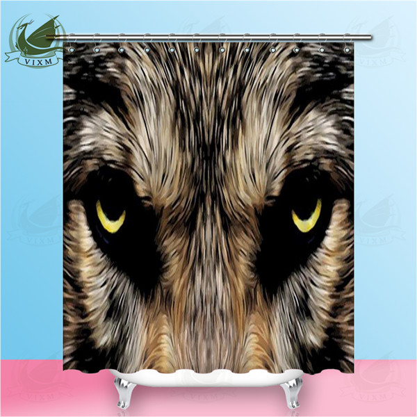 Vixm Beast Animal Wolf Shower Curtains 3D Illustration Wolf Claws Waterproof On White Background Polyester Fabric Curtains For Home Decor