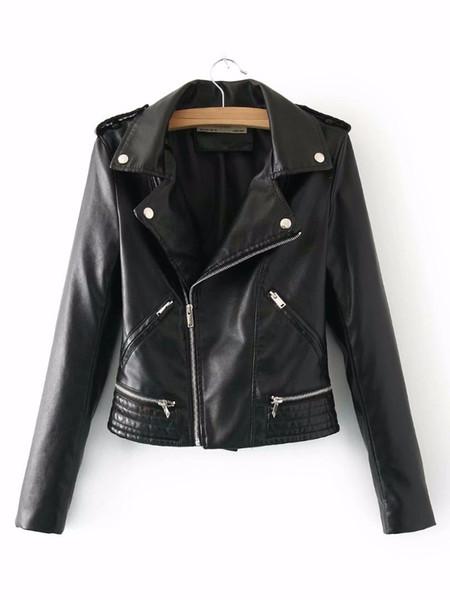 2018 New Women Fashion Autumn Winter Faux Leather Jackets Lady Fashion Matte Motorcycle Coat Biker Black Outwear wine red Hot