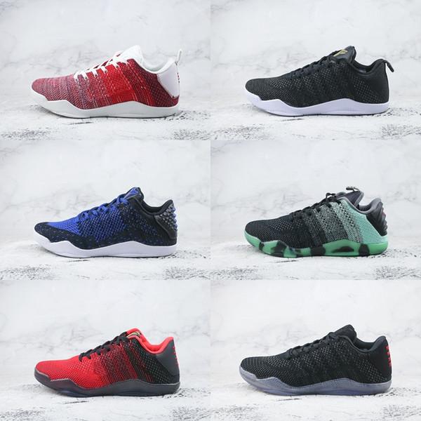 Compre Marca Barata Kobe 11 Elite Low Zapatillas De Baloncesto Para Hombre Red Horse Oreo KB 11s Mentalidad 3 3M Negro Vino Rojo Botas De