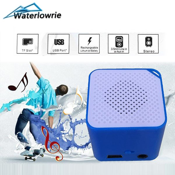 Waterlowrie Speaker Mini MP 3 Music Player Support 8G Micro SD/TF Card Portable MP3-Player Sport Music usb mp3 Built-in Speaker