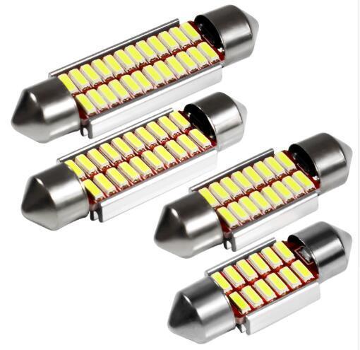 Festoon 31mm 36mm 39mm 42mm Ampoule LED C5W C10W Super Lumineux 4014 SMD Canbus Erreur Libre Auto Intérieur Doom Lampe De Voiture Styling Light