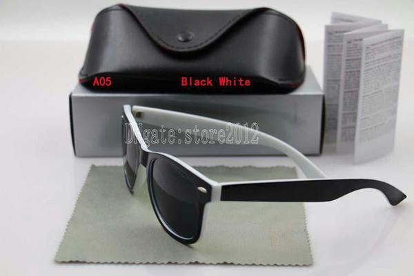 black white frame black lens