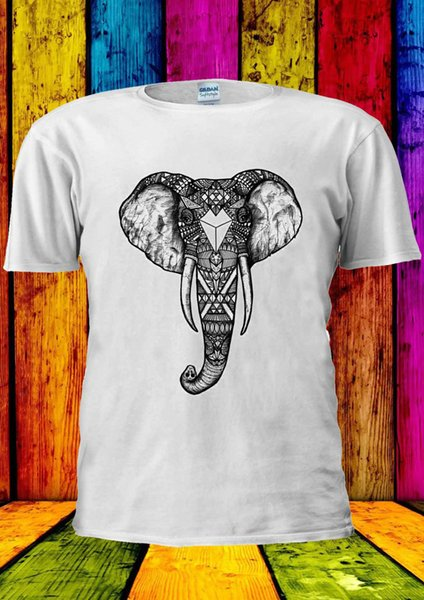 Elephant Astec Abstract Design Cool T-shirt Vest Tank Top Men Women Unisex 2113 2018 funny tee, 100% cotton cool, lovely summer t-shirt Tops
