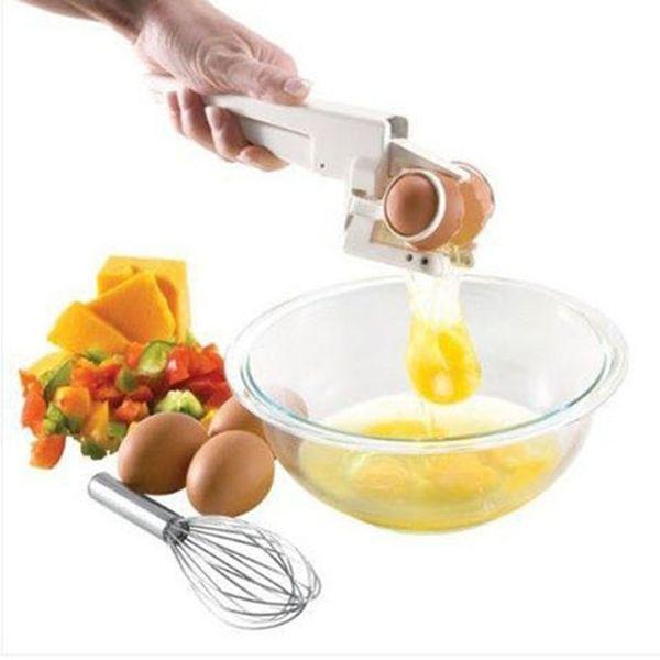 Kunststoff Handheld EZ Cracker Ei Cracker Separator Eierschneider Teiler Slicer Küche Ei Werkzeuge Kochen Werkzeuge Küchenzubehör c612