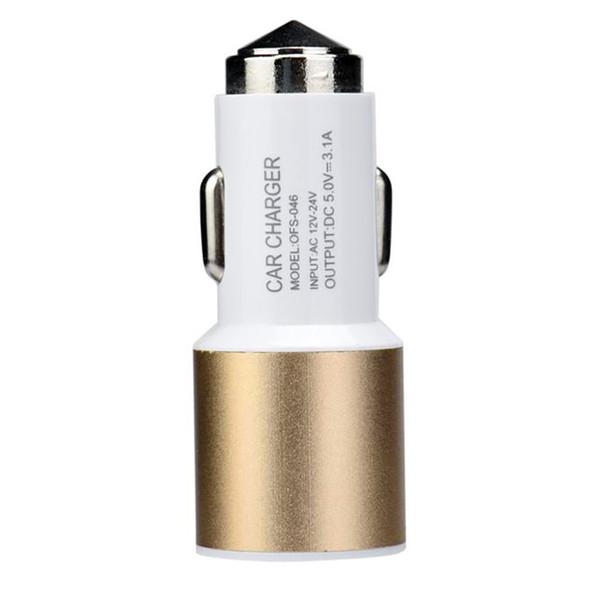 Dual USB Port Car Charger Metal Universal 2Amp for Apple iPhone 8 X 7 Plus Samsung Galaxy Motorola Droid Nokia Htc US03