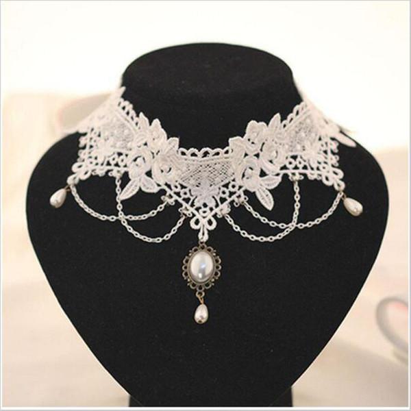 RscvonM Black lace Flower Bohemian Choker Necklace