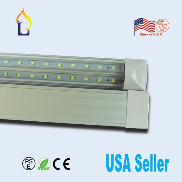6pcs acción en almacén V T8 tubo de luz integrado en forma 4FT 24W 40W 30W 5FT smd2835 fluroscent reemplazo de EE.UU. listado UL envío libre