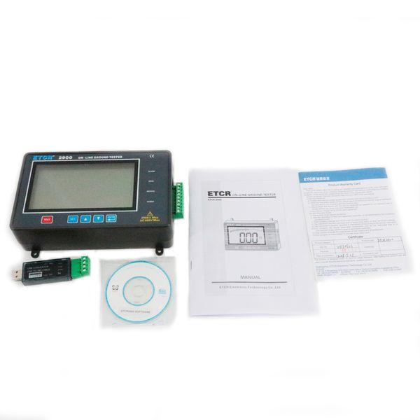 Resistance Online Detection Instrument ETCR2900 Display Mode 4 Digital Super Large LCD