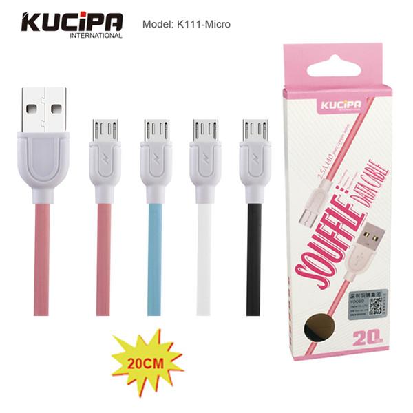 Cavo dati Kucipa 20CM Short Cable Lesu Ultra Speed Micro USB Cavo di trasferimento dati per Power Bank in Flat Retail Packing