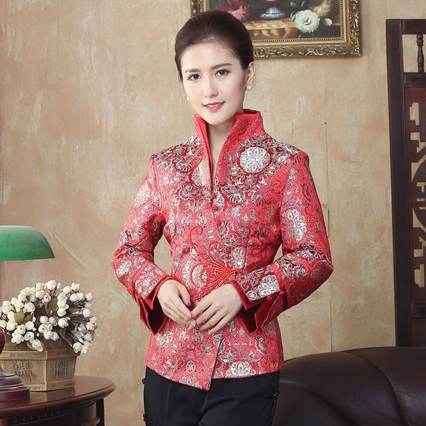 Women Spring New Long Sleeve Jacket Office Lady Mandarin Collar Outwear Oversize S-3XL 4XL Chinese Style Improved Slim Coat