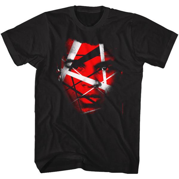 Muhammad Ali Tall T-Shirt Red And White Face Portrait Black Tee T Shirt Men Male Summer Custom Short Sleeve Valentine's Big Size Group Tshir