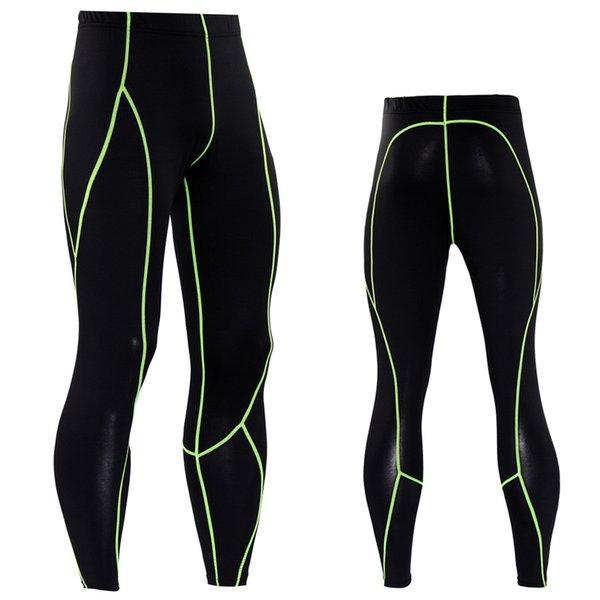 NEW ARRIVAL Compression Pants Long Pants For Male Autumn Spring Fitness Leggings Color Line Bodybuilding Tights Plus Size XXXL