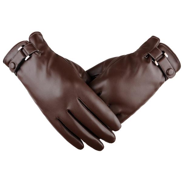 Europe Gloves Hot Autumn Winter Warm Solid Women Gloves Men Unisex Comfortable Touch Screen Wind Men PU