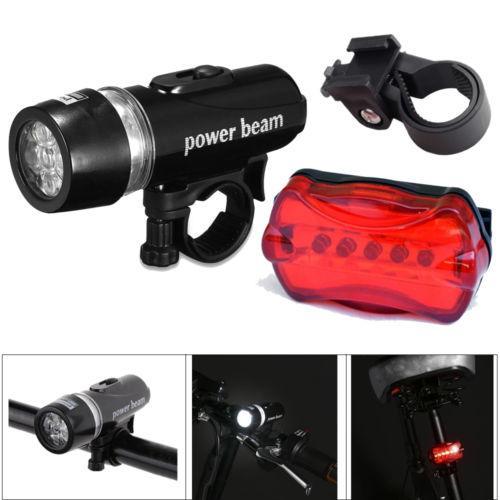 Rear Safety Flashlight Set Waterproof 5 LED Head Light Lamp Bike Bicycle Front