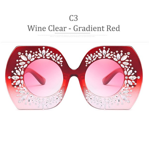 C3 Wine Clear Frame Gradient Red
