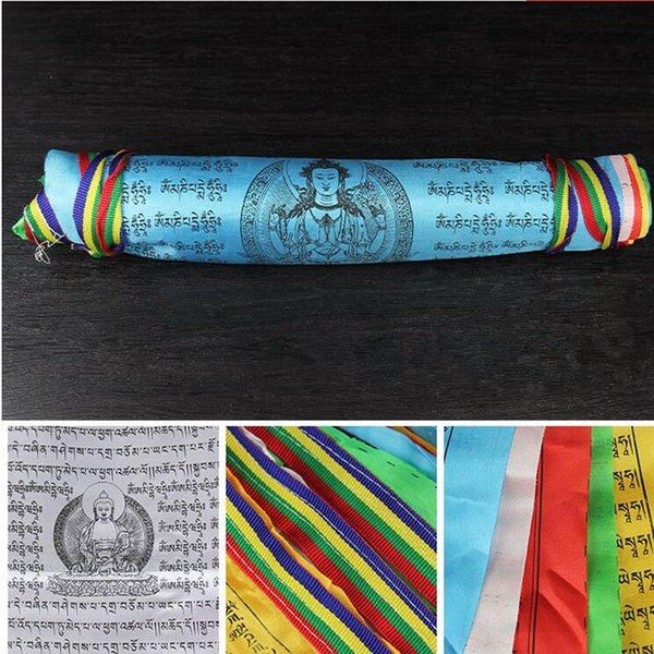 30 Faces/String Quality 30 Kinds cTibet Style Silk Cloth A Total of 8.5 meters 5 Colors Decorative Flag