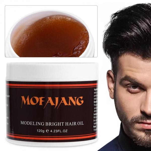 0857c6fa5e7 mofajang Retro Hair Oil Strong style restoring Hair pomade wax skeleton  cream slicked oil mud keep