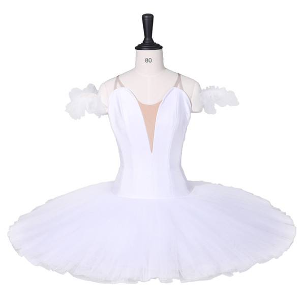 Adult White Swan Ballet Tutu Children Girls Professional Performance Stage Ballet Costume Tutus BT9111F