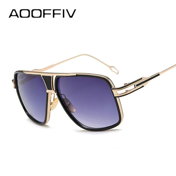 AOOFFIV New Style Sunglasses Men Brand Designer Sun Glasses Driving UV400 Oculos De Sol Masculino Grandmaster Square Sunglass