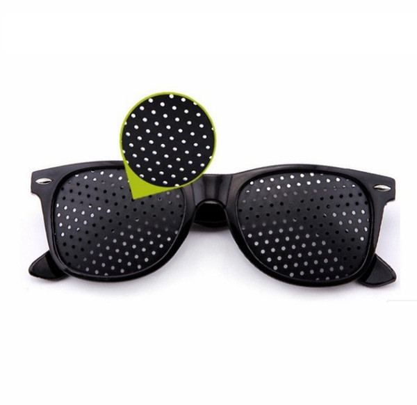 Black Unisex Vision Care Pin Hole Eyeglasses Pinhole Glasses Eye Exercise Eyesight Improve Plastic Relieving Fatigue Glasses D0623-1