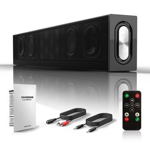 Barra de sonido Altavoz Bluetooth Barra de sonido envolvente Altavoces de audio TV Barra de sonido Subwoofer Cableado Inalámbrico para PC TV Teléfono inteligente de la tableta