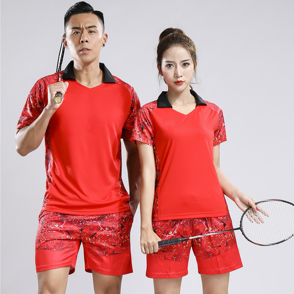 best selling New badminton T-shirts, men's and women's sportswear, summer short sleeves, shirts, tennis, sports shorts, free shipping.