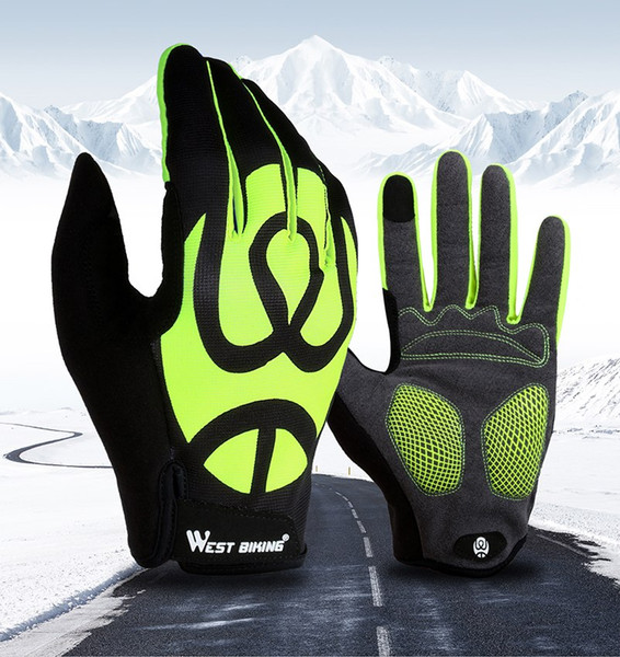 Cycling Gloves Full Finger Touch Screen Bicycle Gloves Windproof Silica Gel Anti-slip Men Women MTB Road Bike Gloves Accessories