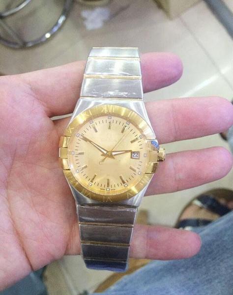 High-quality luxury brand constellation 38MM Swiss movement quartz watch gold watch 18k gold stainless steel gold men's watches Couple watch
