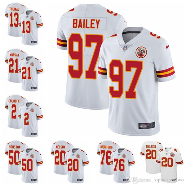 huge selection of 06fe6 c92c0 2018 Kansas City Road Football Jersey Chiefs White Vapor Untouchable 15  Patrick Mahomes 29 Patrick Mahomes 87 Travis Kelce 58 From Jerseyptb8,  $30.05 ...