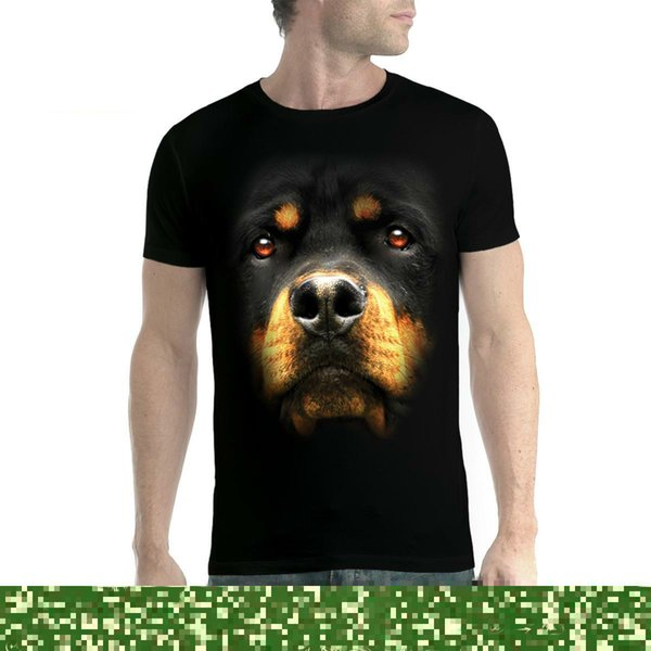 Rottweiler Face Dog Animals Men T-shirt XS-5XL New Hot New 2018 Summer Fashion T Shirts Mens 100% Cotton Short Sleeve