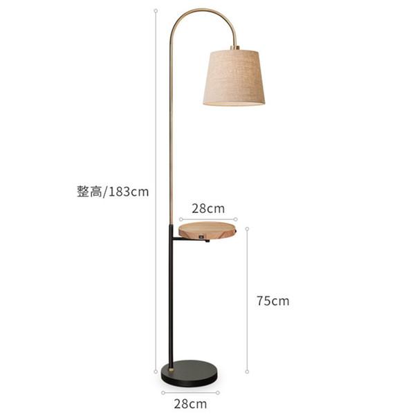Stehleuchte mit Tisch Kreatives Design Kleidung Shade Moderne Lampe mit USB Ladeanschluss Home Luminaira für Wohnzimmer Schlafzimmer