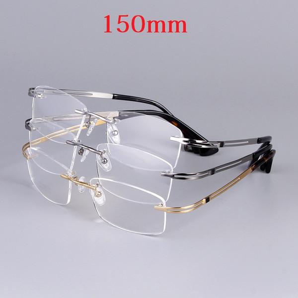 Cubojue 150mm Titan Brille Männer Übergroße Randlose Brillen Rahmen Mann Verschreibungspflichtigen Brillen Myopie Diopter Brillen