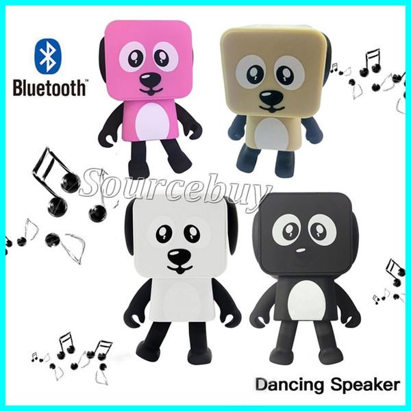 Altoparlanti Bluetooth senza fili Intelligent Robot Dog Type Dance Giocattoli elettronici quadrati Danza altoparlanti con musica giocattolo di compleanno Regalo dei bambini