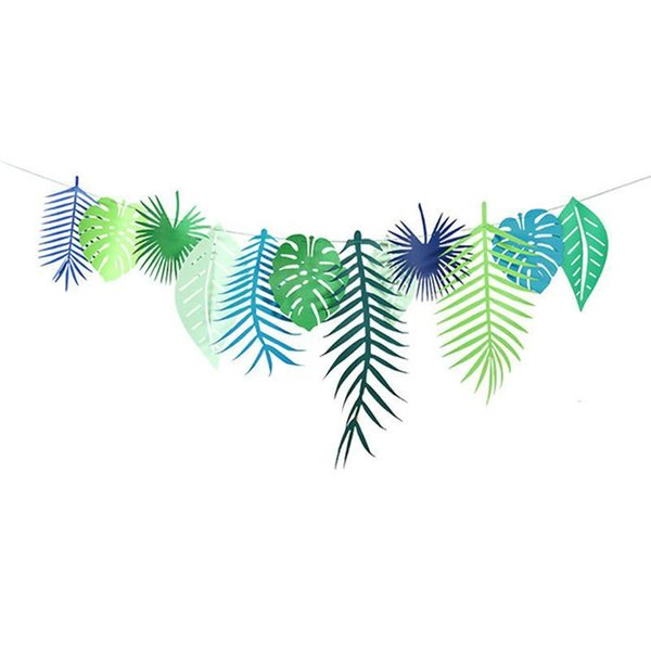 3M Jungle Theme Banner Pineapple Leaves Banner Photograpy Props Party Decorations Beach Safari Supplies