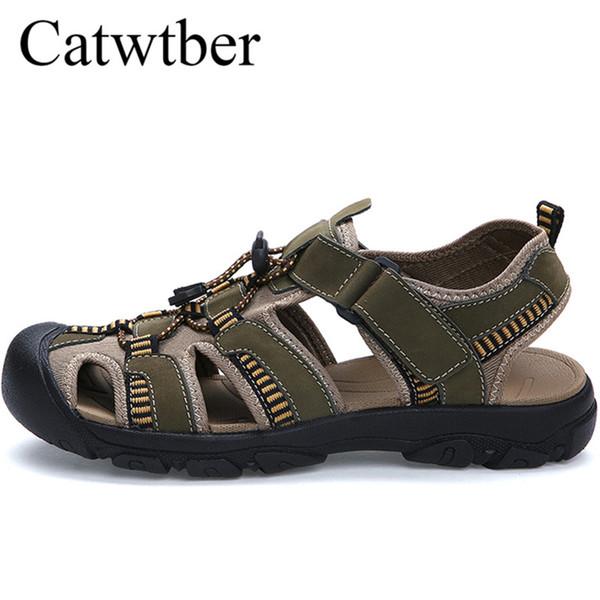Semelle Hommes Catwtber Plage Sport Cuir Marcher Pantoufles Plein Casual En Caoutchouc Air Marque D'été Mâle Acheter Sandales Sandale vmn0ON8w