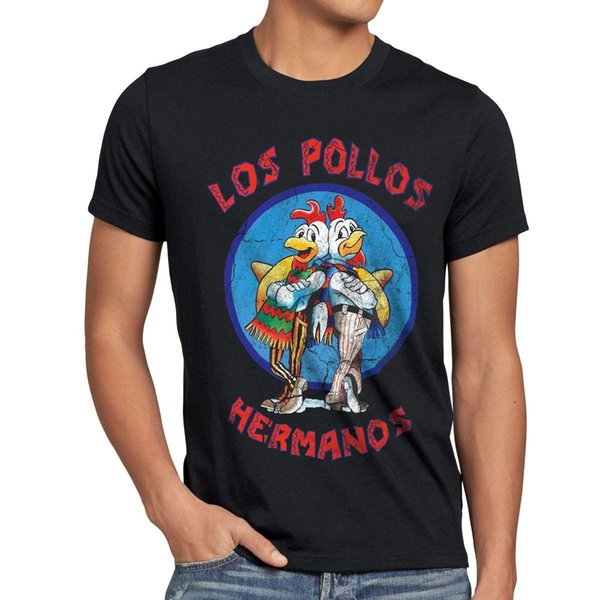 Vintage T-Shirt Breaking Hermanos Heisenberg Jesse White Bad Pollos Walter Los