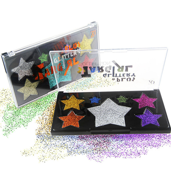 DHL Free Shipping 7 Colors Glitter Eyeshadow Palette Beauty Make Up Shimmer Luminous Waterproof Eye Shadow Maquiagem Kit