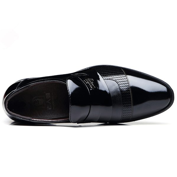 Spring&autunm business standards leather shoes Sequined with solid design leisure shoes Comfortable soft sense shoes for men