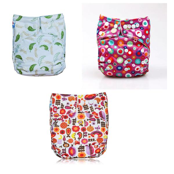 Paquet de 3 pièces fille dessins bébé couches lavables imperméable lavable poche réutilisable couches couches Envoyer par expédition rapide epacket