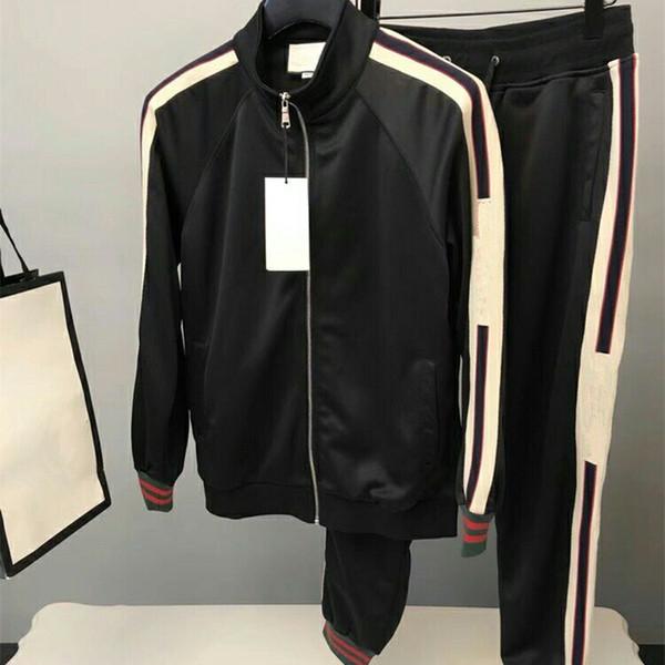 2018ss 브랜드 디자이너 남자 조깅 복 메두사 인쇄 상어 후드 티 셔츠 남성용 슬림핏 트랙 슈트 자켓 스웨터 크기 M-3XL