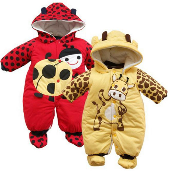 Winter Boy Girl Hat Jumpsuit Shoes Set 2018 Newborn Clothing Coat Kids Tales Rompers Baby Clothes Snowsuit Costume Suit