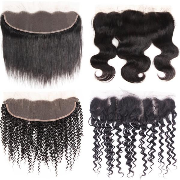 Capelli lisci peruviani 10pc chiusura frontale in pizzo 13X4 parte libera chiusura colore nero naturale non remy capelli 100% capelli umani prezzo wholsale