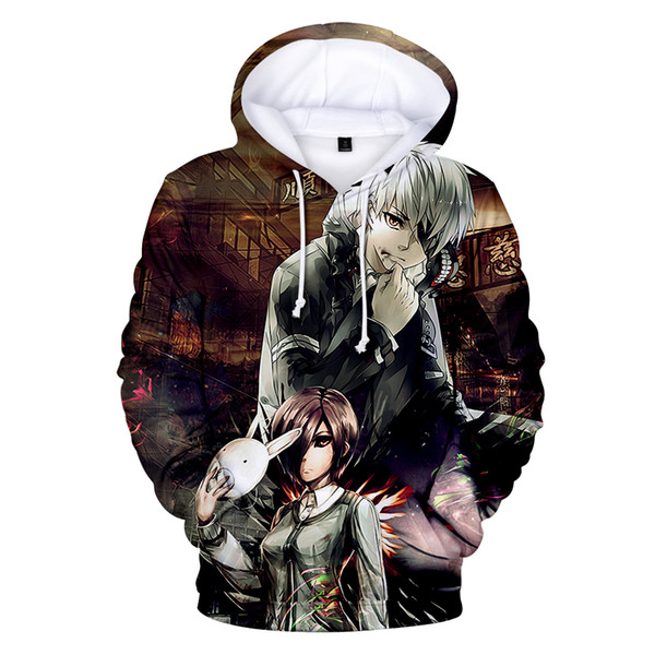 Japanese Anime Tokyo Ghoul Fans Clothes Q0406 Women/Men Hoodies Cospaly Sweatshirts Oversized Autumn Winter Hoodies 3D Print