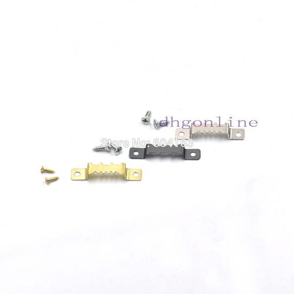200 Pz 41x8mm Metallo Picture Photo Mirror Cornice ad arco Pulsante di accensione con vite 3 Scelta a colori