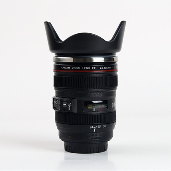 14OZ Camera Lens Mugs Coffee Mugs 4 Generation Water Bottles 304 Stainless Steel Liner Sports Cups