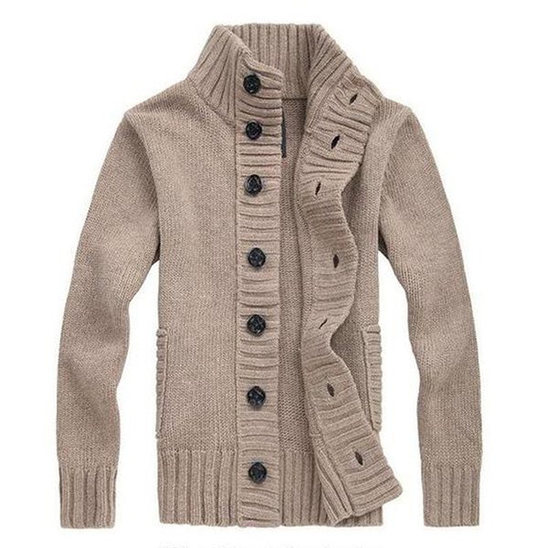 Giacca da uomo in maglione lavorato a maglia maglione pesante cappotto giacca casual coreano linea sottile