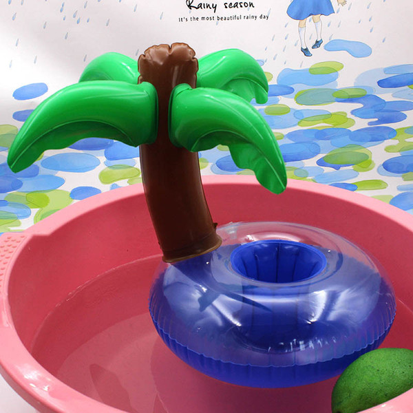 Inflatable Drink Holder Swan Cup Unicorn goose coconut mermaid Outdoor Swimming Bath Kids Toys Water fun Floating Party toys SEN362