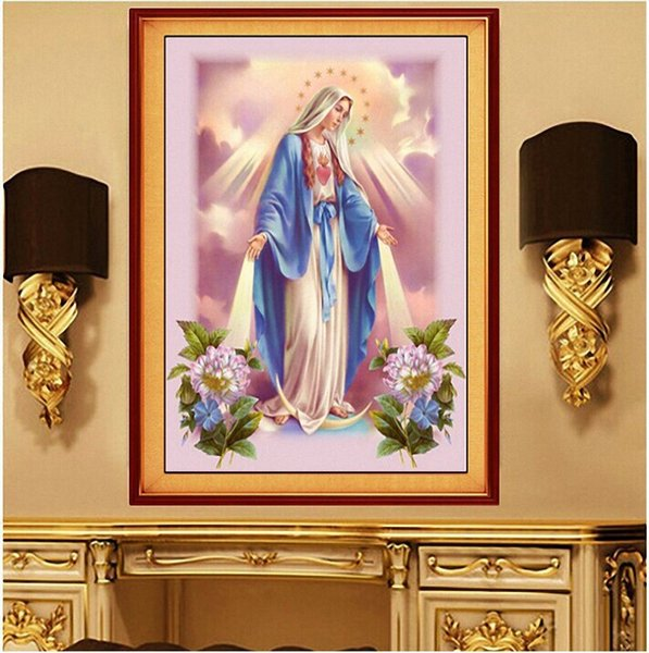 Christianity Jesus Diamonds Picture New Pattern DIY Drilled Drawing A Living Room Religion Stick Drill Cross Embroidery