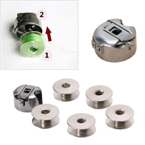 6pcs 5 bobin + 1 bobin kutusu seti endüstriyel dikiş makinesi